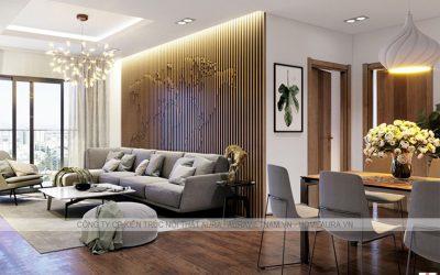 Thiết kế nội thất chung cư 100m2 3 phòng ngủ