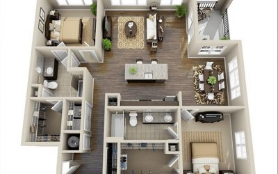 Thiết kế nội thất chung cư nhỏ 50m2
