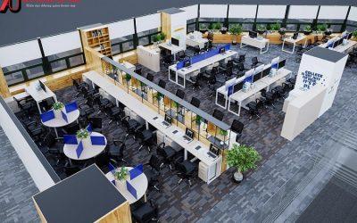 Thiết kế thi công nội thất văn phòng BIDV Metlife Vincom Bà Triệu