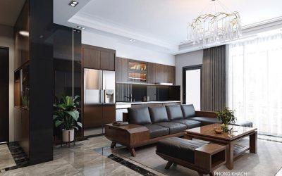 Dự án thiết kế nội thất chung cư HD Mon City 125m2 3 phòng ngủ