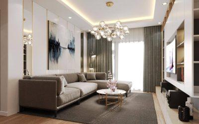 Dự án thiết kế nội thất chung cư 68m2 gồm 2 phòng ngủ tại Lake Ecopark