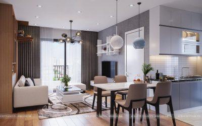 Thiết kế căn hộ 68 m2 Chung cư Hồng Hà Eco City
